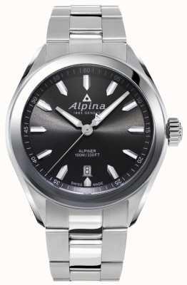 Alpina | mens alpiner | pulsera de acero inoxidable | esfera gris | AL-240GS4E6B