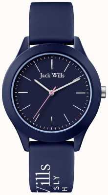 Jack Wills | unión de mujeres | dial de la marina | correa de silicona navy | JW009NVBL