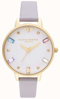 Olivia Burton El | mujeres | abeja arcoiris | correa violeta demi parma | OB16RB11