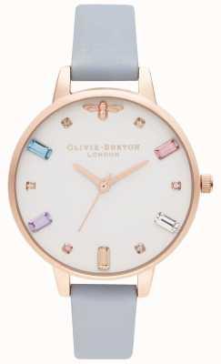 Olivia Burton El | mujeres | abeja arcoiris | correa demi tiza azul | OB16RB12