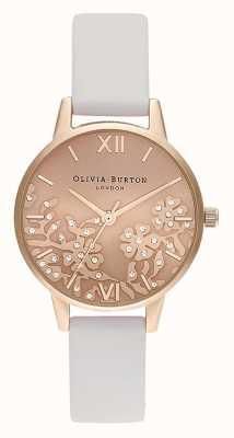 Olivia Burton | mujer | encaje enjoyado | correa de piel color piedra | OB16MV102