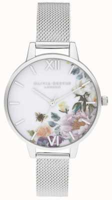 Olivia Burton El | mujeres | jardines encantados | pulsera de malla de acero | OB16EG136
