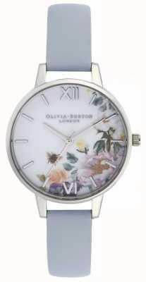 Olivia Burton El | mujeres | jardín encantado | correa de cuero azul tiza | OB16EG114