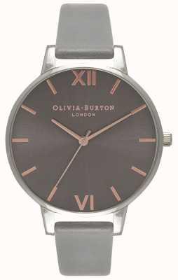 Olivia Burton | mujer | gran dial gris | correa de cuero gris | OB16BD90