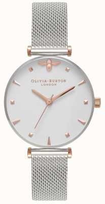 Olivia Burton El | mujeres | abeja reina | pulsera de malla de acero inoxidable | OB16AM140