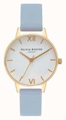 Olivia Burton | mujer | correa de tiza azul | esfera blanca | OB16MDW24
