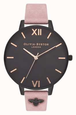 Olivia Burton | mujer | Abeja 3d | correa de gamuza rosa adornada | OB16ES09