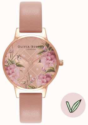 Olivia Burton | mujer | esfera floral | correa de arena rosa vegana | OB16VE02