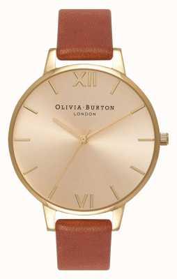 Olivia Burton | mujer | esfera de rayos de sol | cuero bronceado | OB13BD09