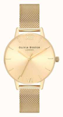 Olivia Burton | mujer | dial midi de rayos de sol | pulsera de malla de oro | OB16MD85