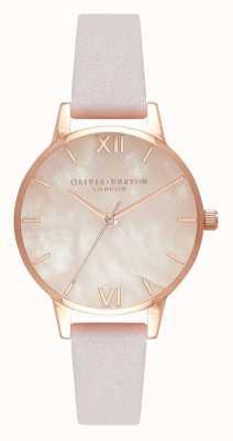 Olivia Burton El | mujeres | semi preciosa | correa de cuero flor | OB16SP02
