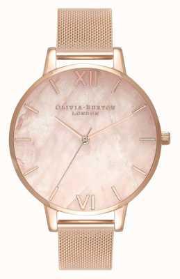 Olivia Burton El | mujeres | semi preciosa | pulsera de malla de oro rosa | OB16SP01