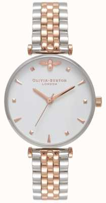 Olivia Burton | mujer | abeja reina pulsera de dos tonos t bar | OB16AM93