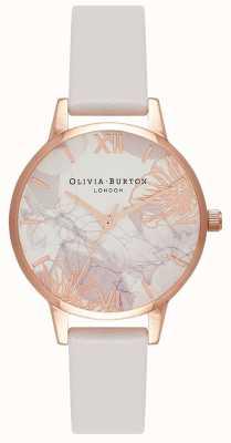 Olivia Burton | mujer | florales abstractos | correa de cuero colorete | OB16VM12