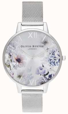 Olivia Burton | mujer | luz del sol florales | pulsera de malla de acero | OB16EG117