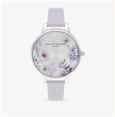 Olivia Burton | mujer | luz del sol florales | correa de cuero violeta parma | OB16EG137