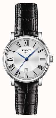 Tissot | carson classic | correa de cuero negro | esfera plateada | T1222101603300