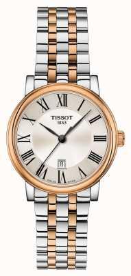 Tissot | carson premium lady | pulsera de dos tonos | T1222102203301
