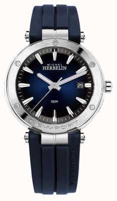 Michel Herbelin | mens | Newport | esfera azul | caucho | 12288/15CB