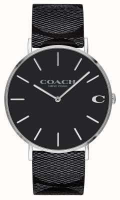 Coach | mens | firma | charles | cuero negro | 14602157