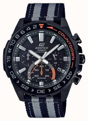 Casio El | hombres | edificio | premium | correa gris negro | reloj | EFS-S550BL-1AVUEF