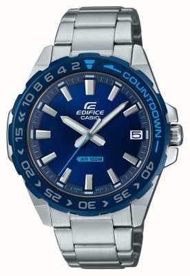 Casio El | hombres | edificio | clásico | esfera azul | acero inoxidable | EFV-120DB-2AVUEF