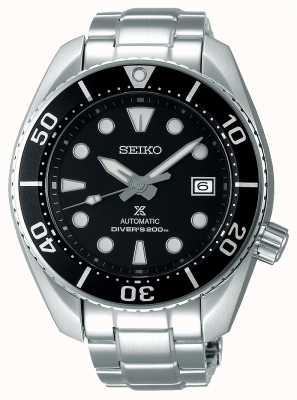 Seiko Pulsera automática de acero inoxidable de sumo Prospex para hombres, esfera negra. SPB101J1