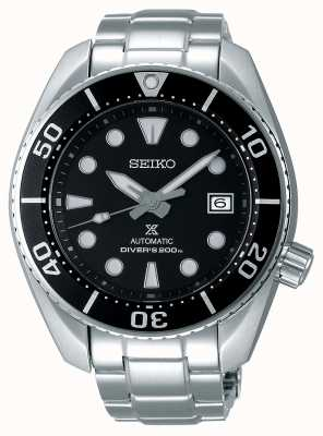 Seiko Pulsera de acero inoxidable sumo automático prospex para hombre esfera negra SPB101J1
