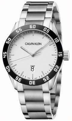 Calvin Klein El | competir | hombres | pulsera de acero inoxidable | esfera blanca | K9R31C46