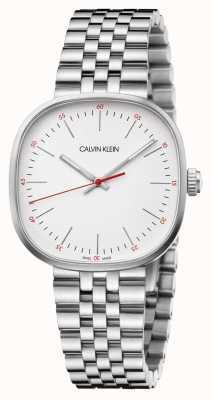 Calvin Klein | pulsera de acero inoxidable para hombre | esfera cuadrada plateada | K9Q12136