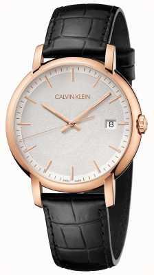 Calvin Klein | hombre minimal | correa de cuero negro | esfera blanca | K9H216C6