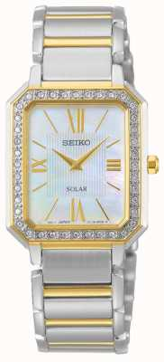 Seiko | serie conceptual | clásico | solar | pulsera de dos tonos | SUP428P1