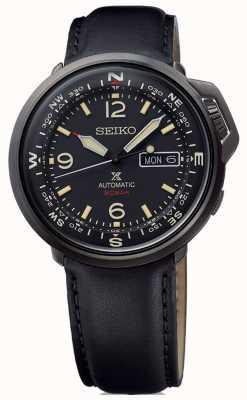 Seiko | prospex | mens | automático | cuero negro | SRPD35K1