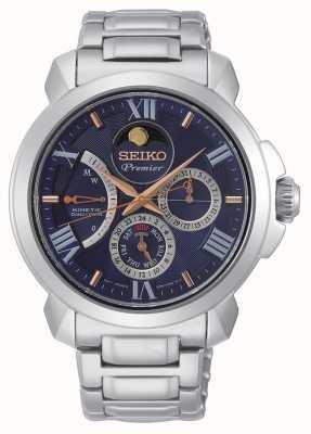 Seiko | primer disco directo cinético | mens | calendario azul | SRX017P1