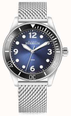 Michel Herbelin | trofeo de cuarzo | mens | esfera azul | malla de acero inoxidable | 12260/AN15B
