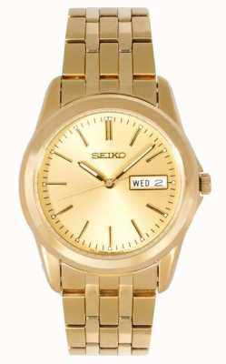 Reloj Seiko Caballero Pulsera Tono Dorado SGGA48P1