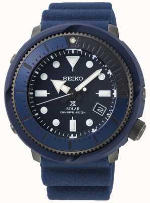Seiko El   prospex   serie de la calle   silicona azul marino   buzo   SNE533P1
