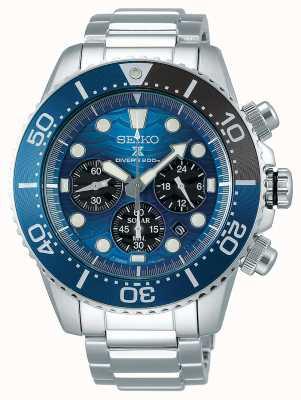 Seiko | buzos prospex | salvar el océano | esfera de cronógrafo azul | SSC741P1