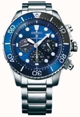 Seiko | buzos de prospex | salvar el océano | esfera de cronógrafo azul | SSC741P1