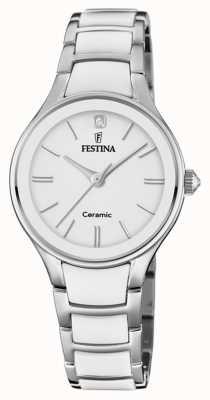 Festina El | cerámica para mujer | pulsera de plata / blanco | esfera blanca | F20474/1