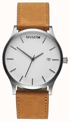 MVMT Clásico bronceado blanco | correa de cuero marron | esfera blanca D-L213.1L.331