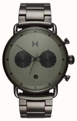 MVMT Blacktop rallye verde gunmetal | pulsera de pvd | esfera verde D-BT01-OLGU