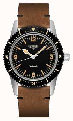 Longines El | zambullidor de la piel reloj patrimonio | hombres | suizo automático | L28224562