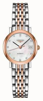 Longines El | colección elegante | 25.5mm de mujer | suizo automático | L43095877