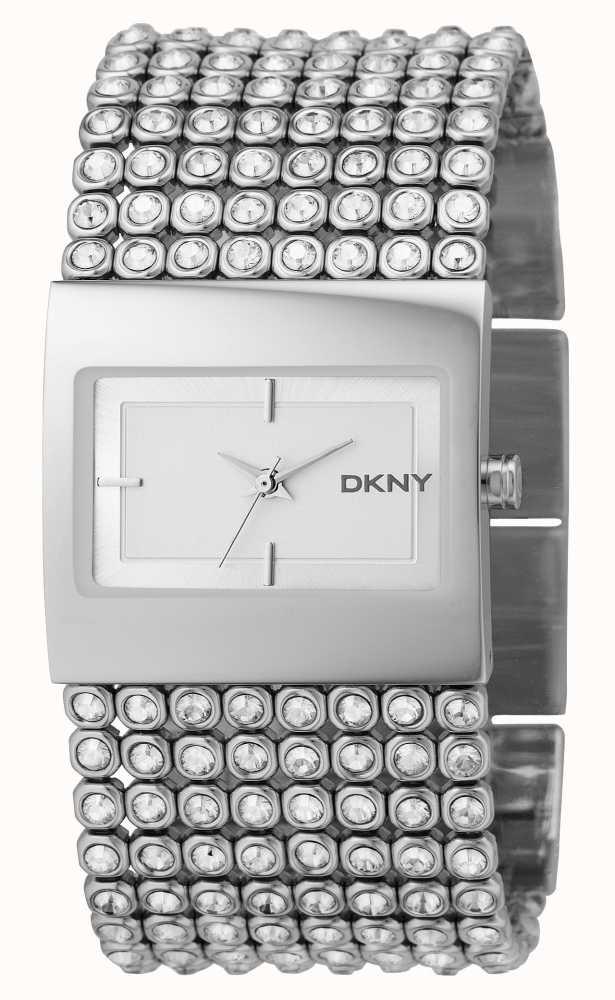 be431b310d77 DKNY Piedra Set Reloj De Acero De Plata De Las Señoras NY4661 ...
