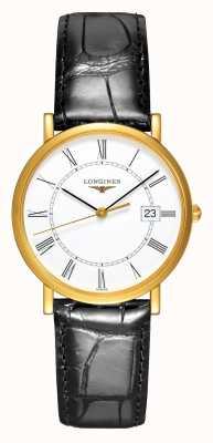 Longines Presencia | Oro amarillo de 18 quilates | hombres 34mm | Correa de cuero L47776110
