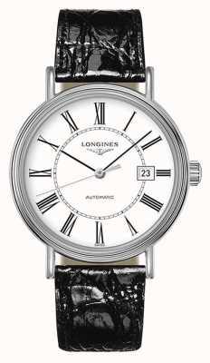 Longines Presencia | suizo automático | cuero negro | esfera blanca L49224112