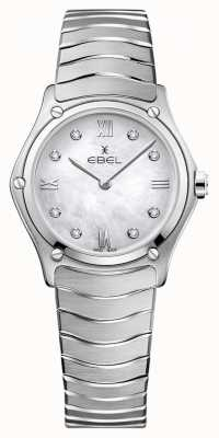EBEL Clásico deportivo de mujer | esfera en nácar | conjunto de diamantes | 1216417A