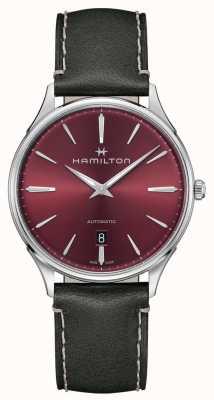 Hamilton Jazzmaster thinline | automático | esfera roja | correa gris H38525771