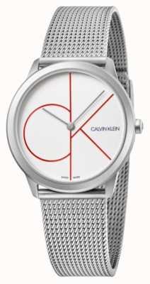 Calvin Klein El | mínimo | pulsera de malla de acero inoxidable | esfera plateada | K3M52152